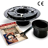 Linear Shower Drain Base (Flange) Bundle - Heavy Duty ABS - UPC Approved Design - 2/3 Inch, No Hub - w/ Free Rubber Gasket, Wrench, & How-To Guide. Ideal for Shower Floor Renovation, DIY Bathroom.