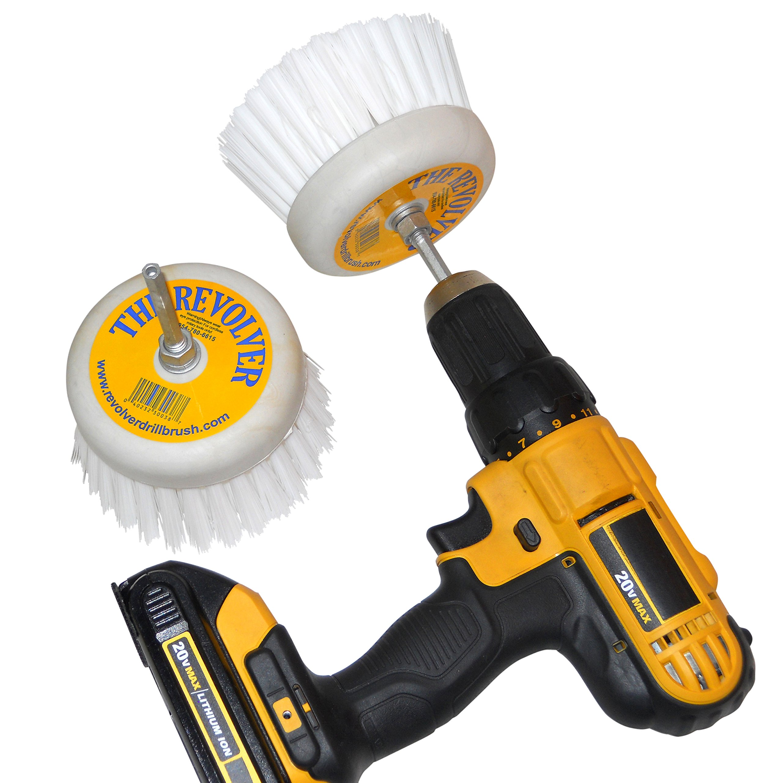 Revolver Drill Brush - Power Scrubbing Drill Attachment - Multi-Purpose Cleaning Tool (2 Pack) by Revolver Drill Brush (Image #2)