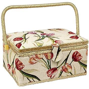 Amazon.com: Adolfo Design - Cesta de costura con diseño de ...