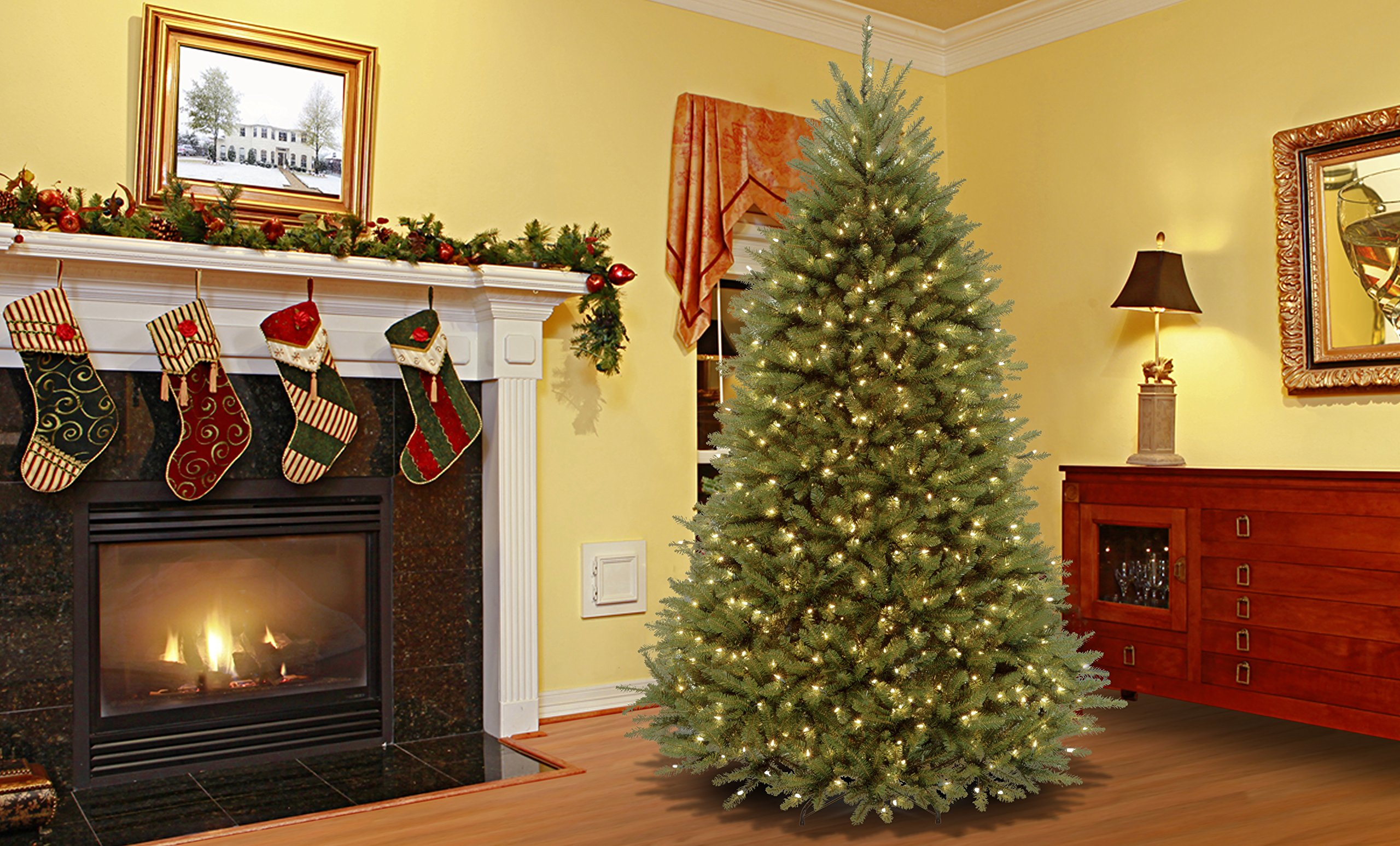 National Tree 7.5 Foot Dunhill Fir Tree with 750 Clear Lights, Hinged (DUH-75LO) by National Tree Company (Image #2)