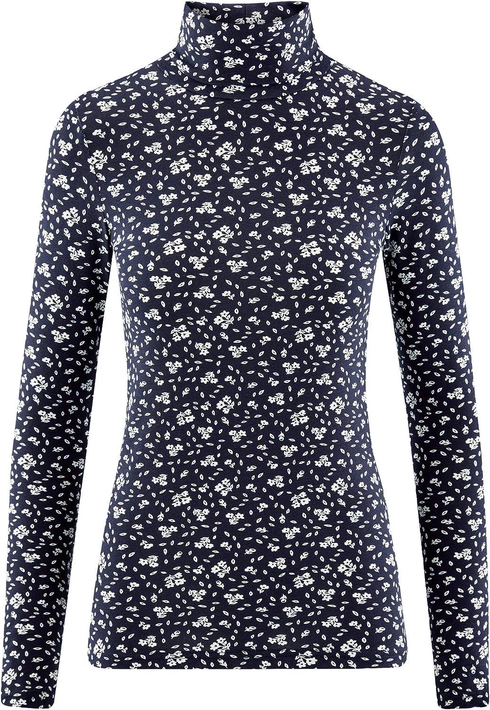 oodji Ultra Womens Cotton Turtleneck Top