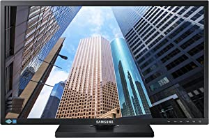 Samsung SE450 Series 27 inch FHD 1920x1080 Desktop Monitor for Business, DVI, VGA, DisplayPort, VESA mountable, 3-Year Warranty, TAA (S27E450D)