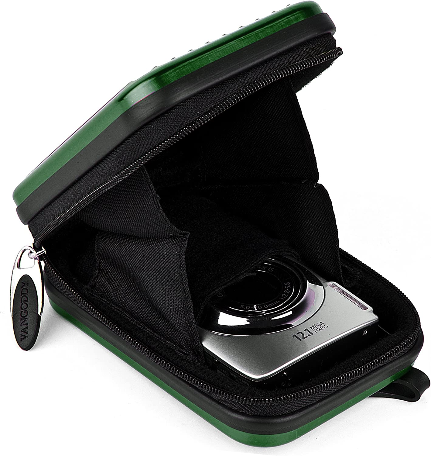 VanGoddy Pascal Mettalic Metal Case for Sony Cyber Shot DSC HX90V Digital Cameras and Screen Protector Green