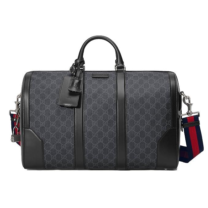 rivenditore online 0447d 8ce15 Gucci Borsa Da Viaggio Uomo 474131K5IAN1095 Pvc Nero: Amazon ...