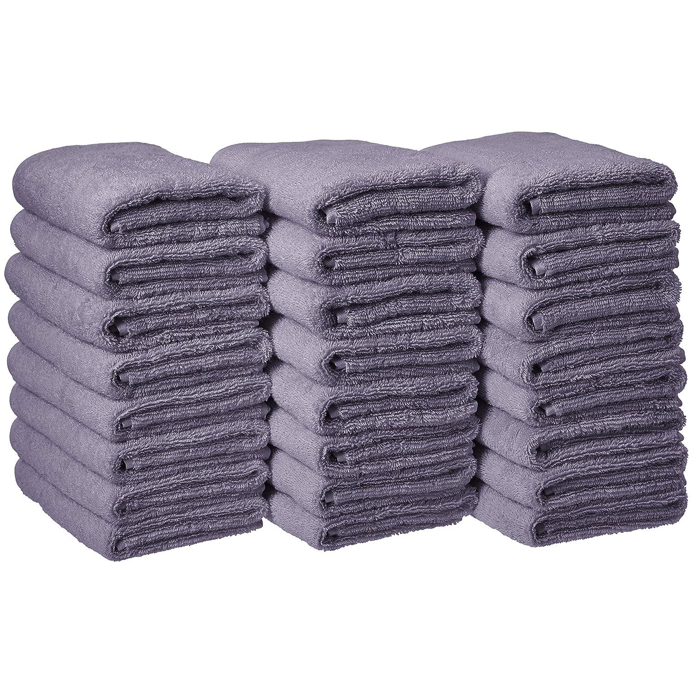 AmazonBasics Cotton Hand Towel - 24-Pack, Lavender