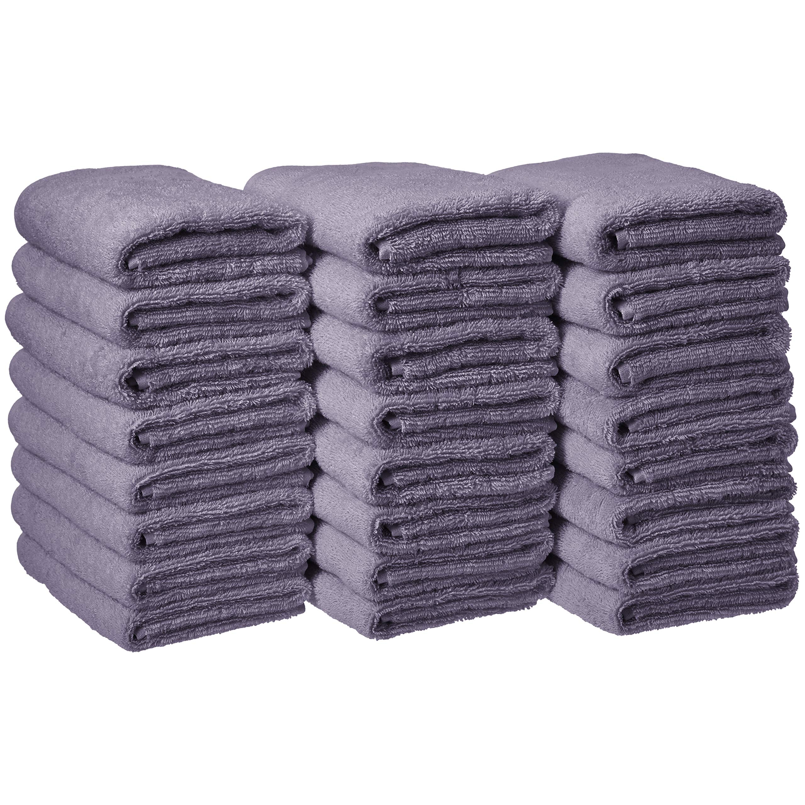 AmazonBasics Cotton Hand Towels - Pack of 24, Lavender by AmazonBasics