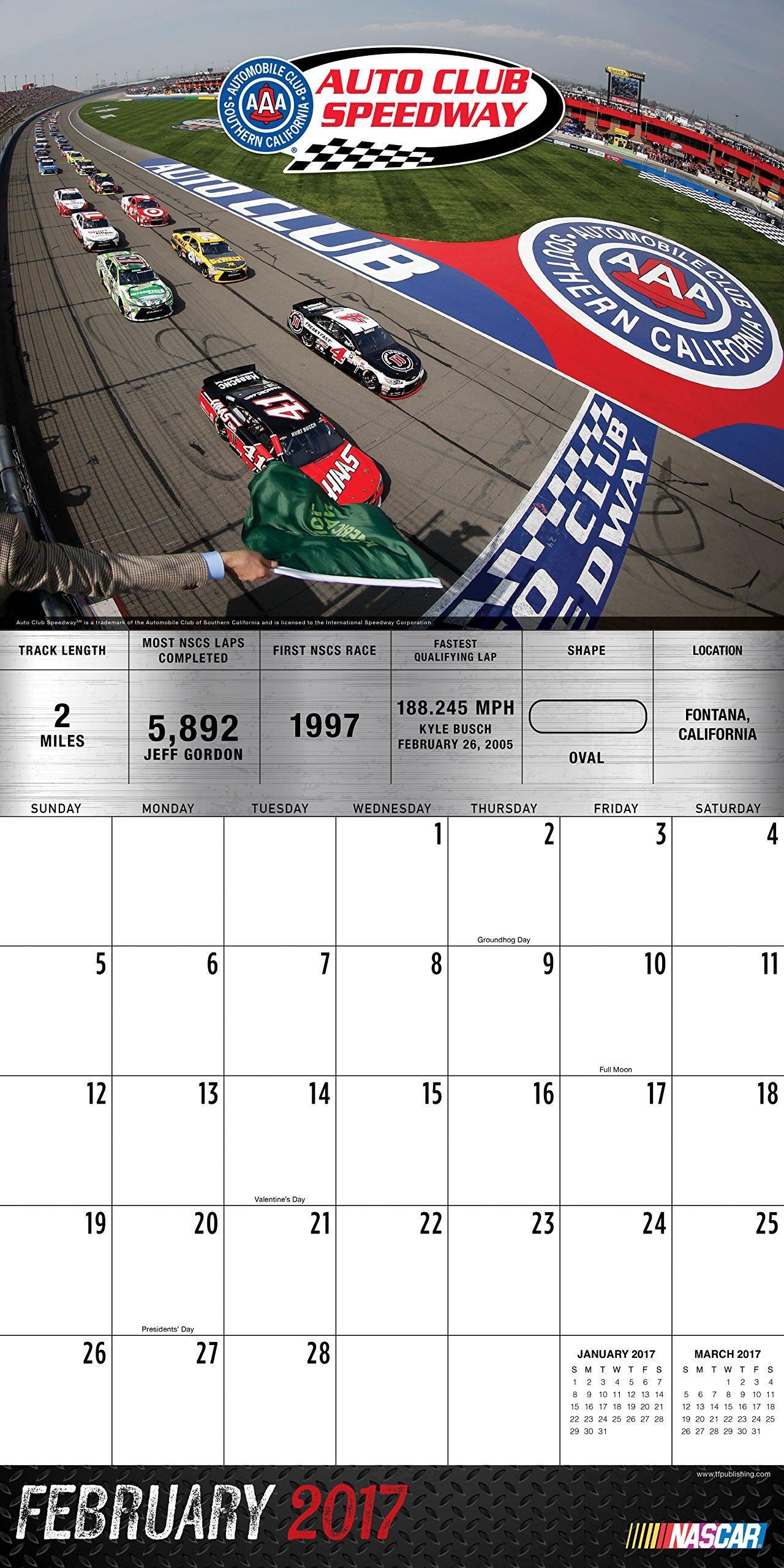 2017 Tracks of NASCAR Wall Calendar: Nascar: 9781624387494: Amazon.com:  Books