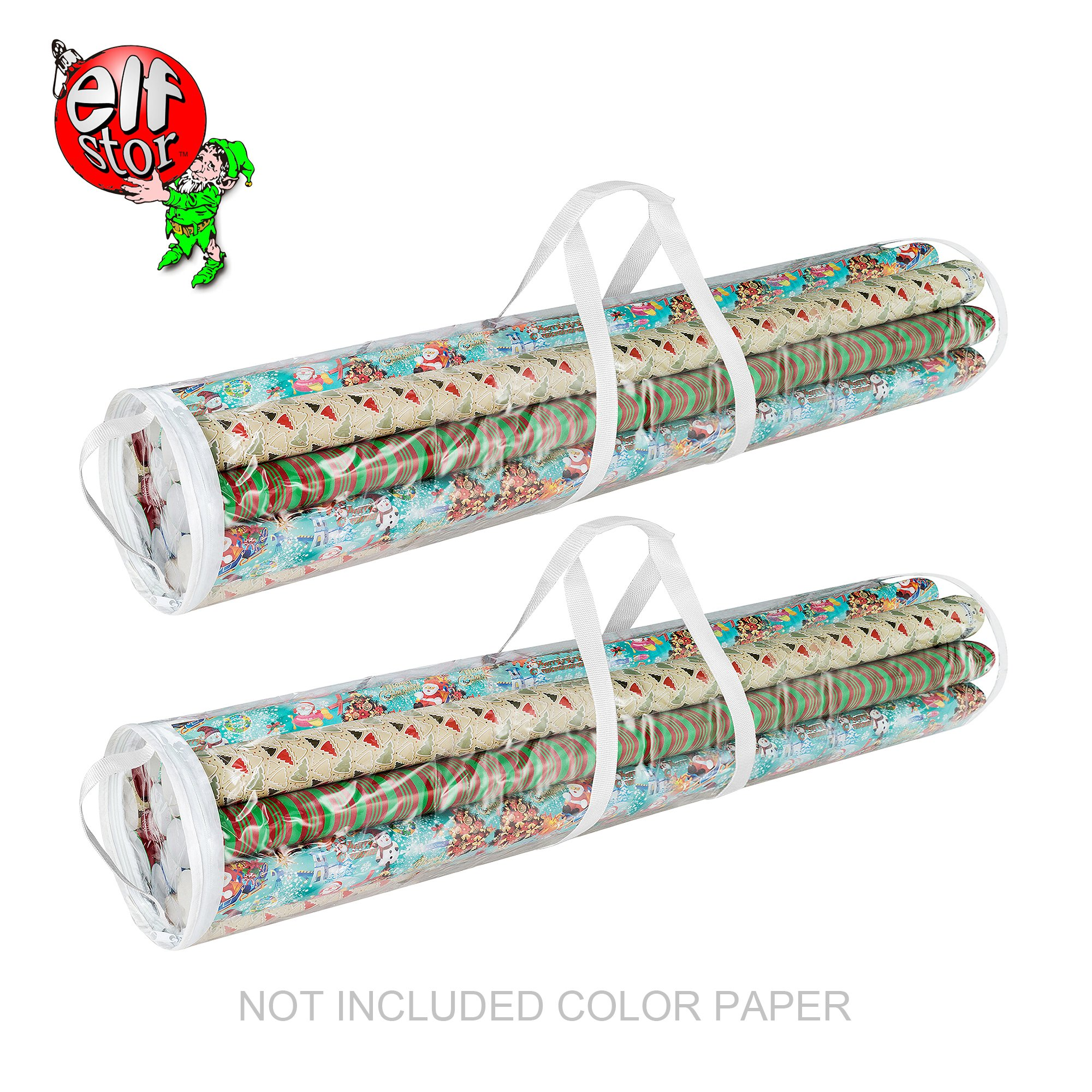 Elf Stor 83-DT5054 Gift Wrap Storage Bags Holds 40-Inch Rolls of Paper-2 Pack by Elf Stor