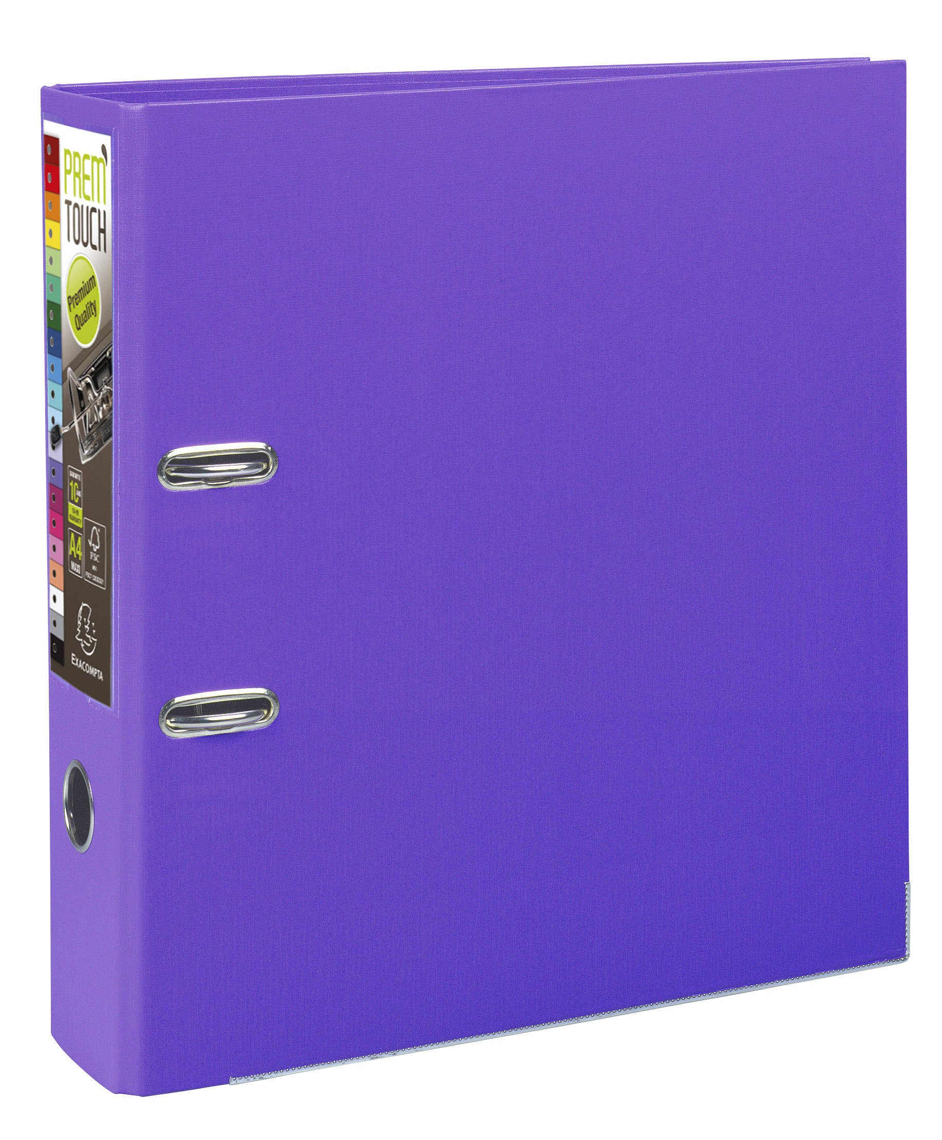 Exacompta A4 Maxi Prem'Touch PP Lever Arch File, 80 mm Spine, Dark Purple