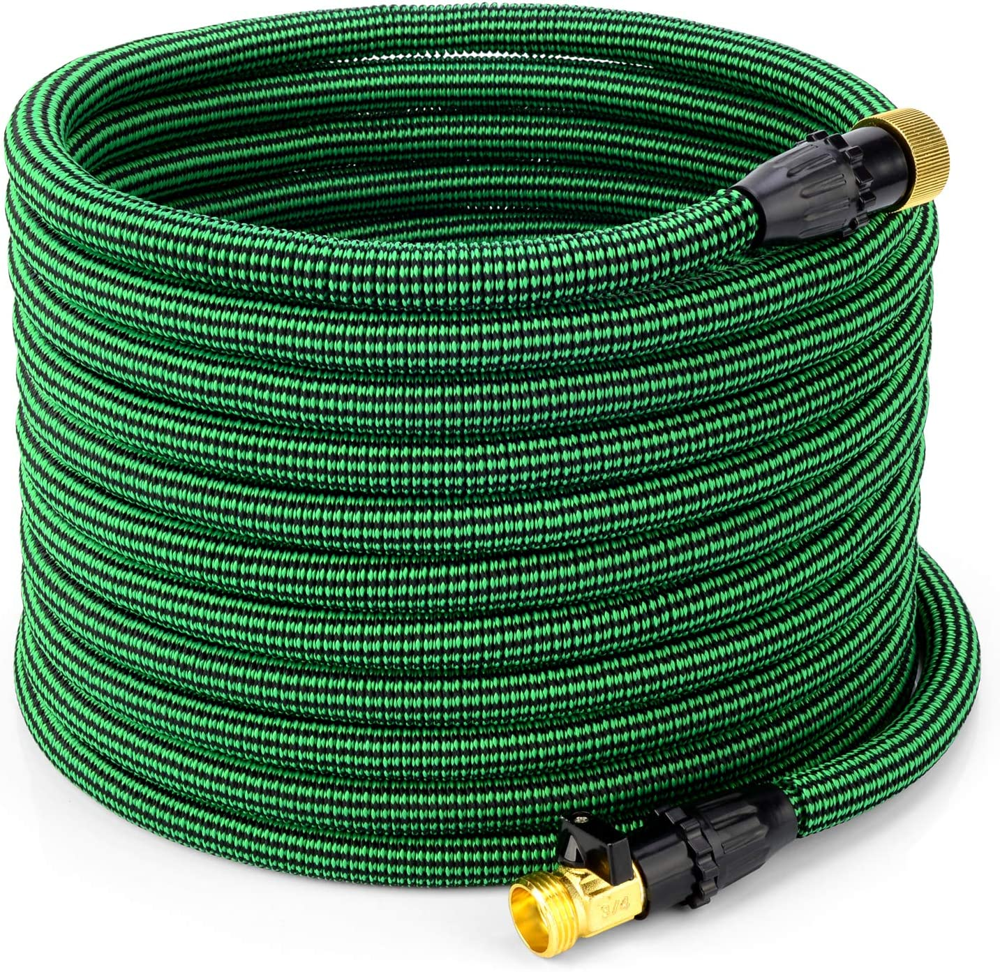 100 ft Garden Hose-Lightweight Expandable Water Hose,Extra Strength with 3/4 Inch Solid Brass Fittings,- Flexible Expanding Hose with Storage Bag,Leak Resistant Pocket Water Hose