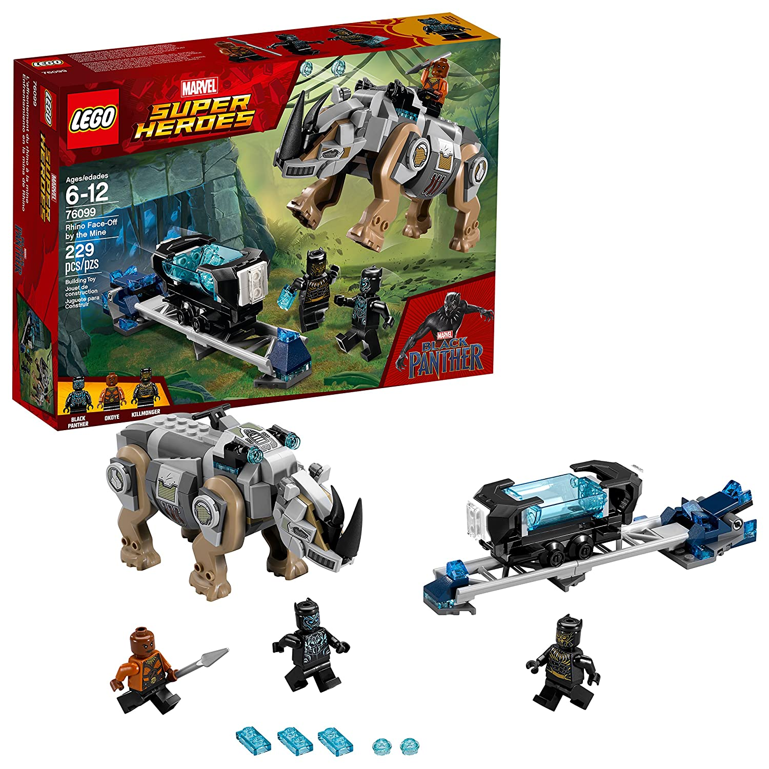 LEGO Marvel Super Heroes Rhino Face-Off by the Mine 76099 Building Kit (229 Piece) 6212658