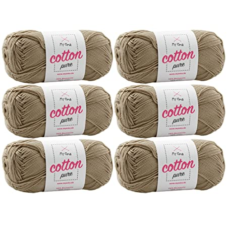 Baumwollgarn Häkeln Myoma Cotton Pure Sandstein Fb 0221