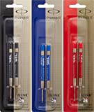 Parker Refill for Retractable Gel Ink Pens, Medium, Black (30525PP), Blue (30526PP) and Red (30529)