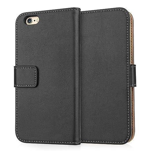 21 opinioni per Caseflex Cover per iPhone 6 / 6S Nero Genuino Pelle Portafoglio Custodia