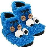 Sesam Calle 0122031–Pantuflas, diseño del monstruo de las galletas