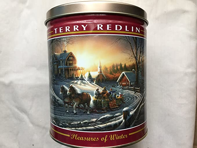 Round Terry Redlin Evening with Friends Tin