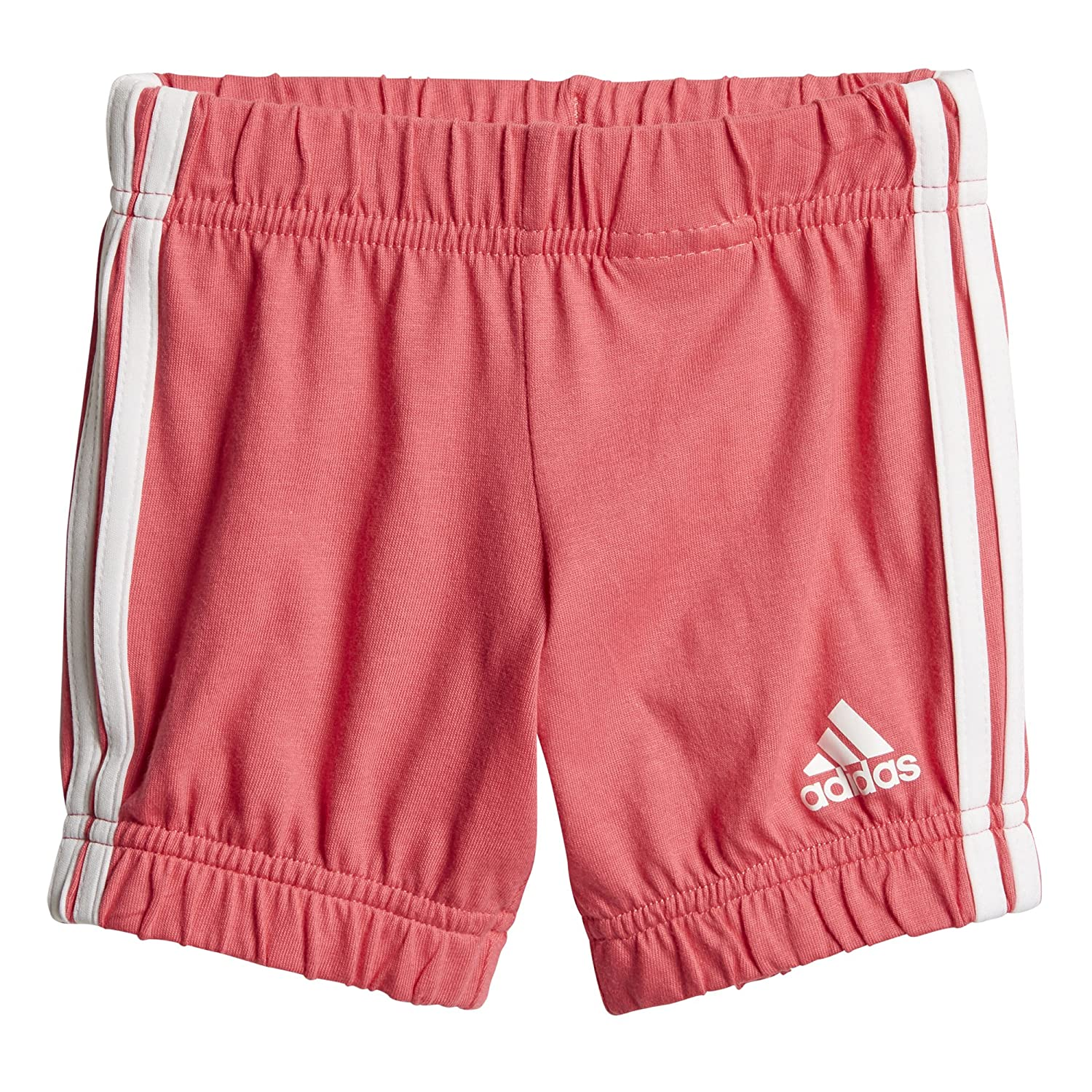 adidas Infant Girls Summer Easy Set, White/Chalk Pink, 3T adidas Canada Limited Parent Code - SPORTS CF7413