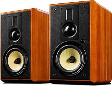 Swans Speakers - M3AMKII - Powered 2.0 Bookshelf Speaker, 3-Way Acoustic Design, Individual Analog Amplifiers, RMS 120Wx2, Supporting Wi-Fi/Bluetooth aptX HD, Handcrafted Solid Wood Enclosures.
