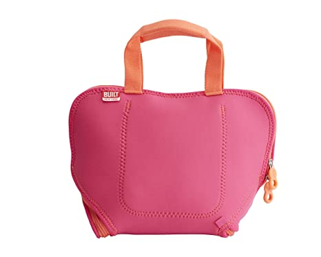 1c49d35a30f4 BUILT NY Convertible Neoprene Placemat Lunch Bag, Pink