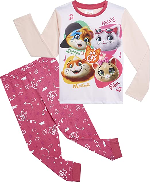 44 Cats Pijama Niña, Pijamas Niña Conjunto 2 Piezas Manga Larga ...