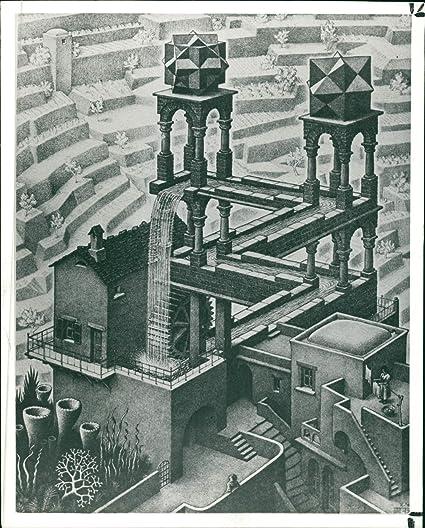 Amazoncom Vintage Photo Of Works By Mc Escher Waterfall