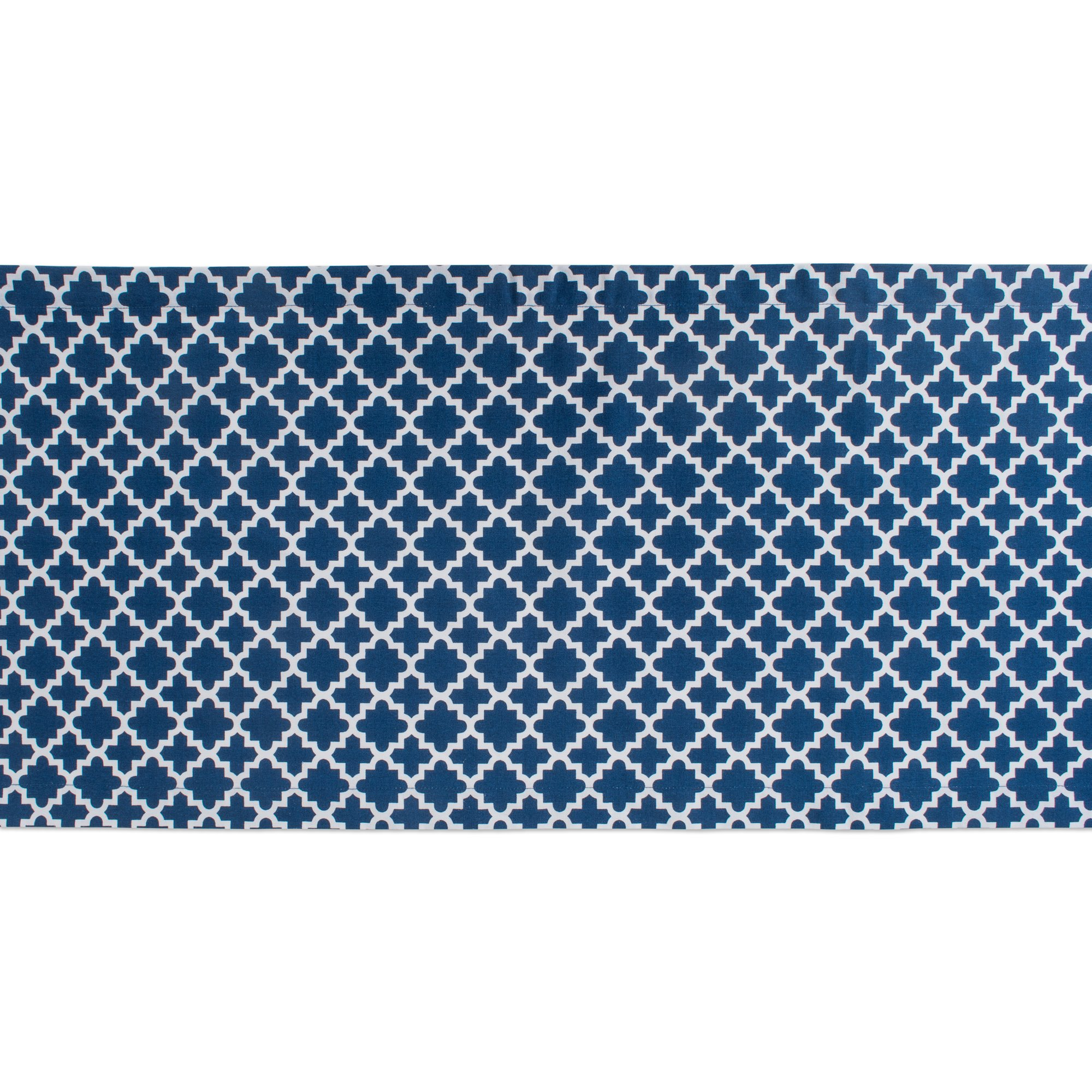 DII Lattice Cotton Table Runner for Dining Room, Foyer Table, Summer Parties and Everyday Use - 14x108'', Nautical Blue and White by DII (Image #3)