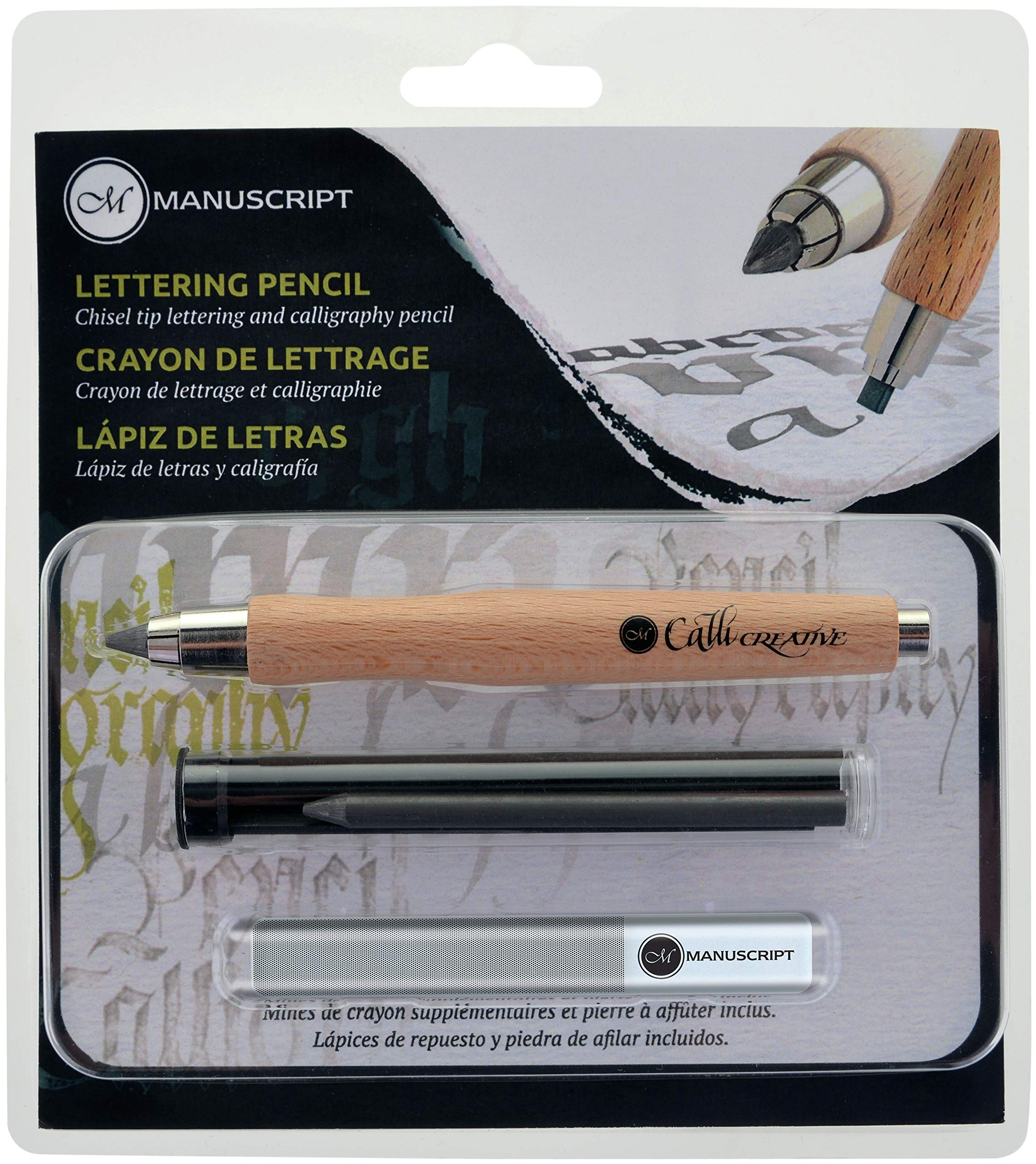 Manuscript CalliCreative Lettering Pencil Set 3/Pkg-Natural by Manuscript Pen (Image #1)
