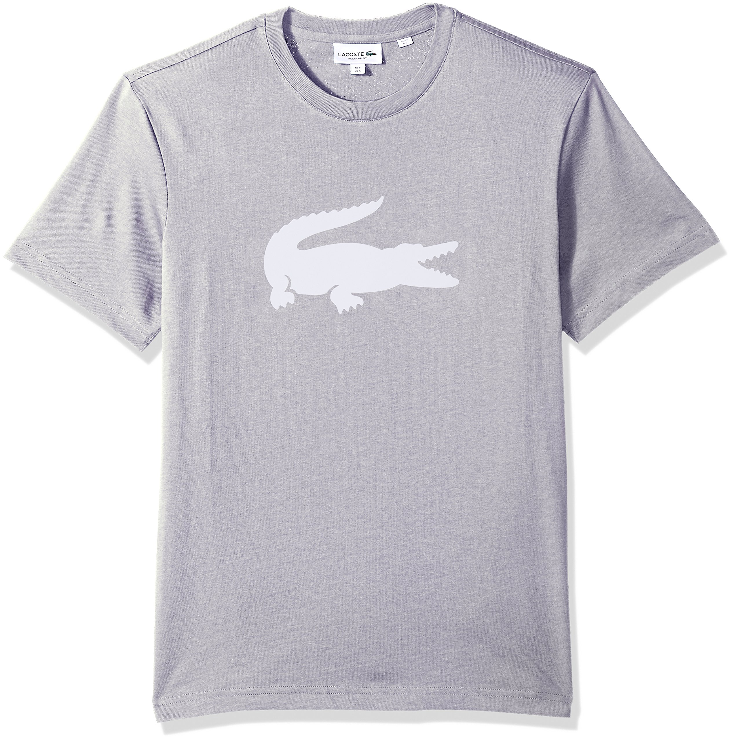 2b77e74f70 Galleon - Lacoste Men's Crew Neck Oversized Crocodile Cotton Jersey ...