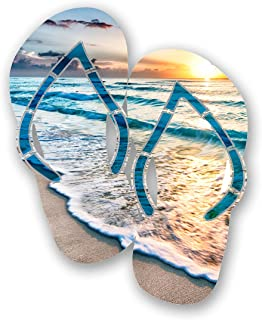 product image for Next Innovations Metal Wall Art - Beach Wall Décor Cancun Flip Flops, Handmade in The USA for Use Indoors or Outdoors