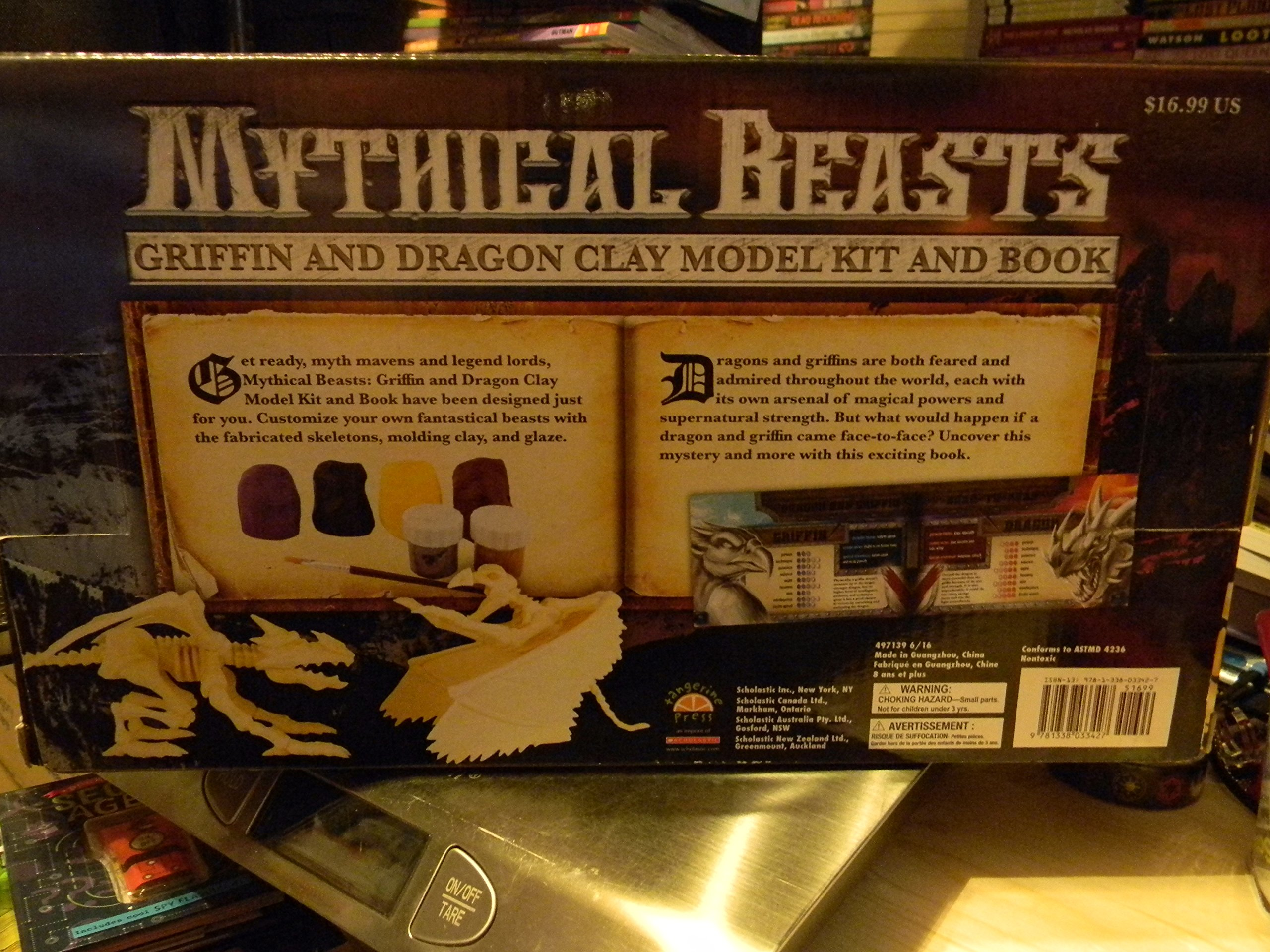 Mythical Beasts Griffon and Dragon Clay Model Kit and Book: Kelly ...