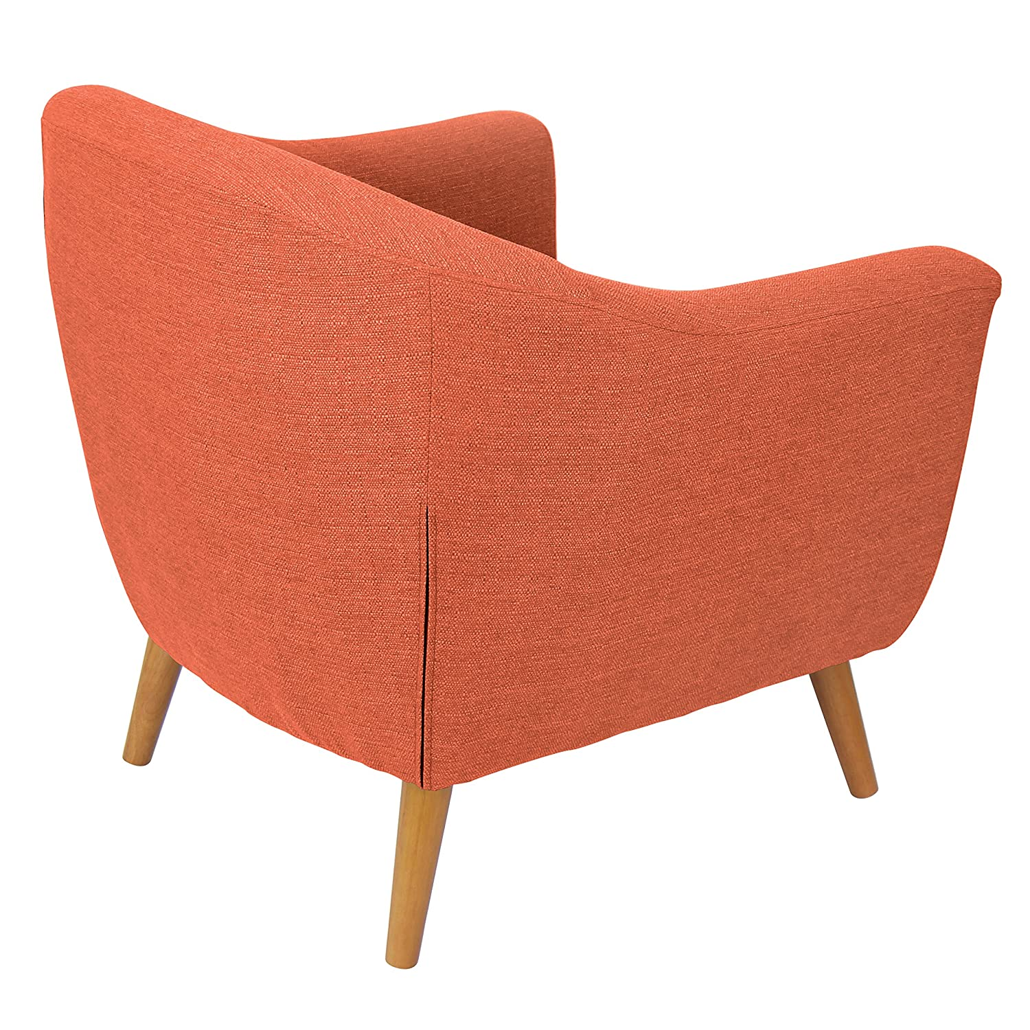 Amazon.com: Lumisource Rockwell Mid Century Modern Accent Counter Chair,  Orange: Kitchen U0026 Dining