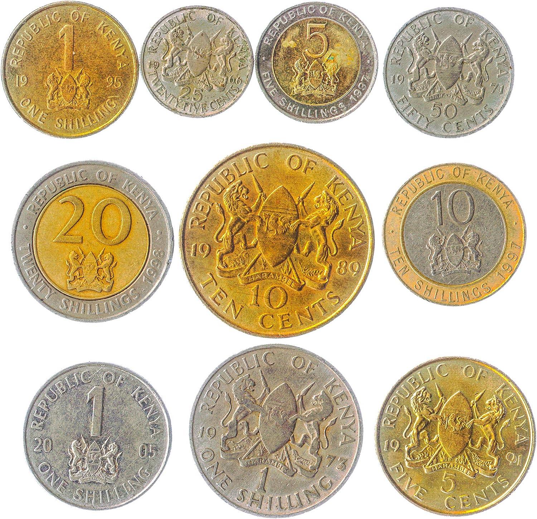 Lote DE 10 Monedas DE KENIANAS ÁFRICA Oriental DE Kenia Viejas Monedas COLECCIONABLES. Ideal para Banco DE Moneda, SOSTENEDORES DE Moneda Y Album DE Monedas: Amazon.es: Juguetes y juegos