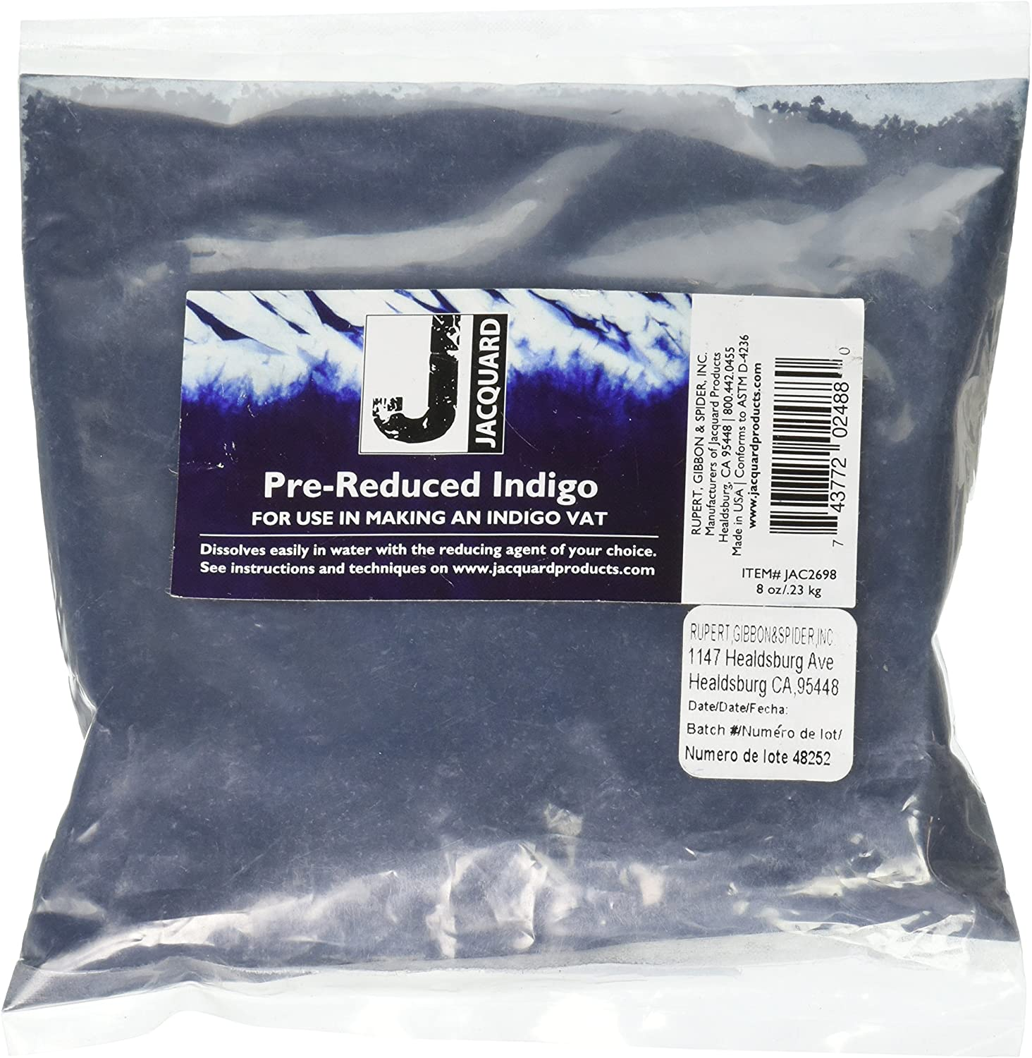 Pack of 2 8-Ounce Indigo Jacquard Products Jacquard Pre