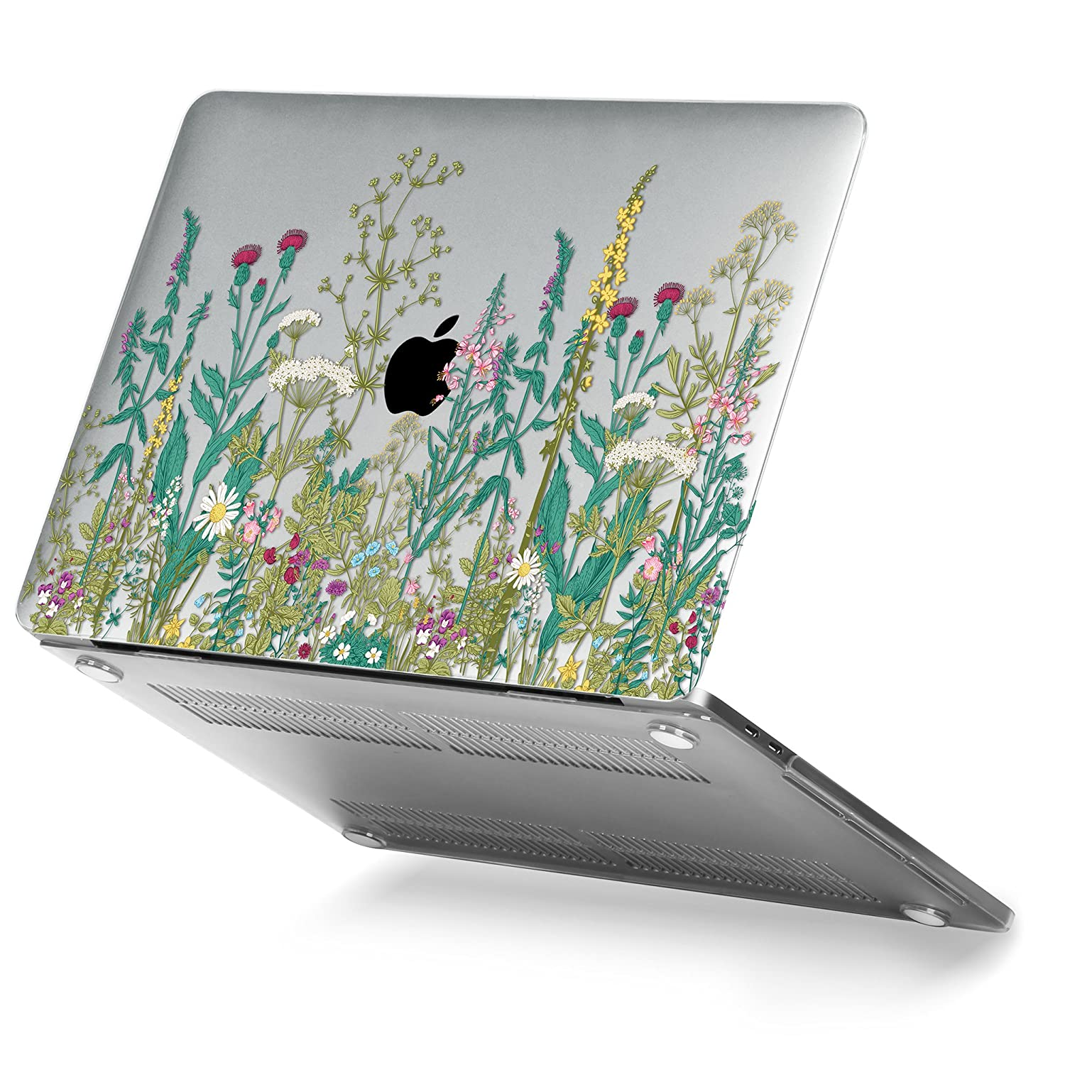 MacBook Pro 13 Case 2017 & 2016 Release A1706/A1708, GMYLE Plastic Hard Case Shell Cover for Apple New Macbook Pro 13 inch With/Without Touch Bar and Touch ID - Garden Flower Pattern
