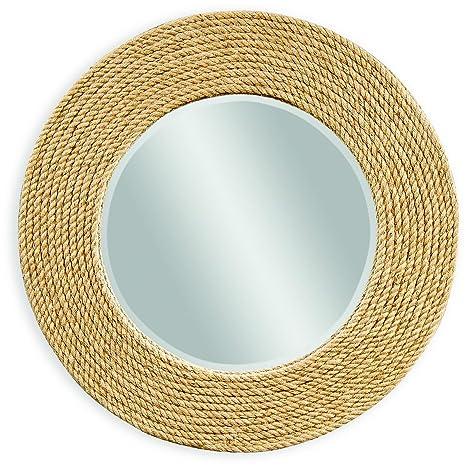 Amazon.com: Bassett Espejo Espejo de pared palimar en cuerda ...