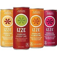 24 Count IZZE 4 Flavor Sunset Variety Pack 8.4 oz Sparkling Juice
