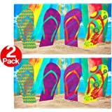 Kaufman - Flip Flop Surf Beach Towel (105070) - 2 Pack Set