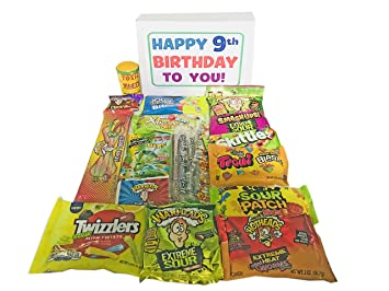 Woodstock Candy Sour Assortment Kids 9th Birthday Gift For 9 Year Old Girl Or Boy