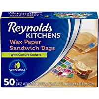 50 Count Reynolds Kitchens Sandwich and Snack Wax Paper Bags
