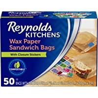 "Reynolds Kitchens Wax Paper Sandwich Bags - 6x7-13/16"", 50 Count"