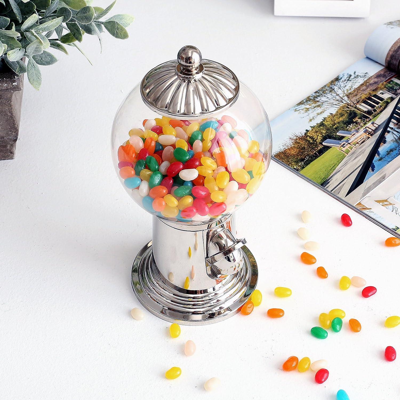 25,4 cm escritorio recargable Gumball Machine, Vintage Estilo Candy dispensador w/acrílico transparente Globo: Amazon.es: Hogar