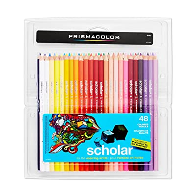 Prismacolor Scholar Colored Pencils, 48 Pack : Childrens Colored Pencils : Office Products