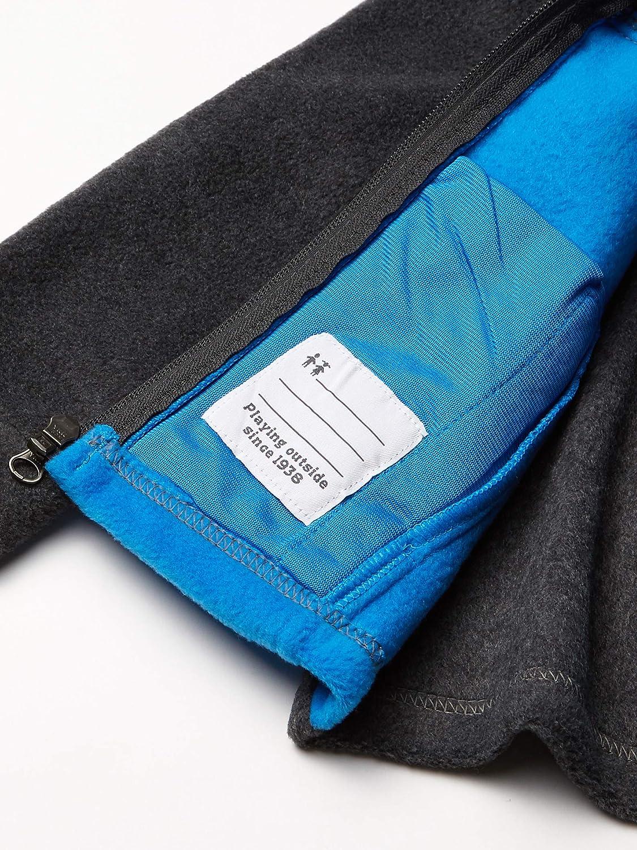 Medium Columbia Boys Big Steens Mt II Classic Fit Fleece Jacket Azure Blue//Charcoal Heather