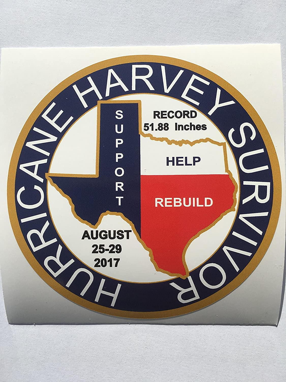 SBD Decals Hurricane Harvey Survivor Texas Louisiana Support Help Rebuild 1 Donated per Decal Sold (Texas TX)