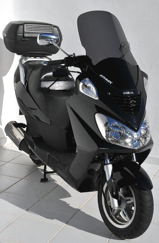 Ermax Hoher Windschild f/ür Motorroller Daelim 125 S2 Baujahr 2006-2010 Grau
