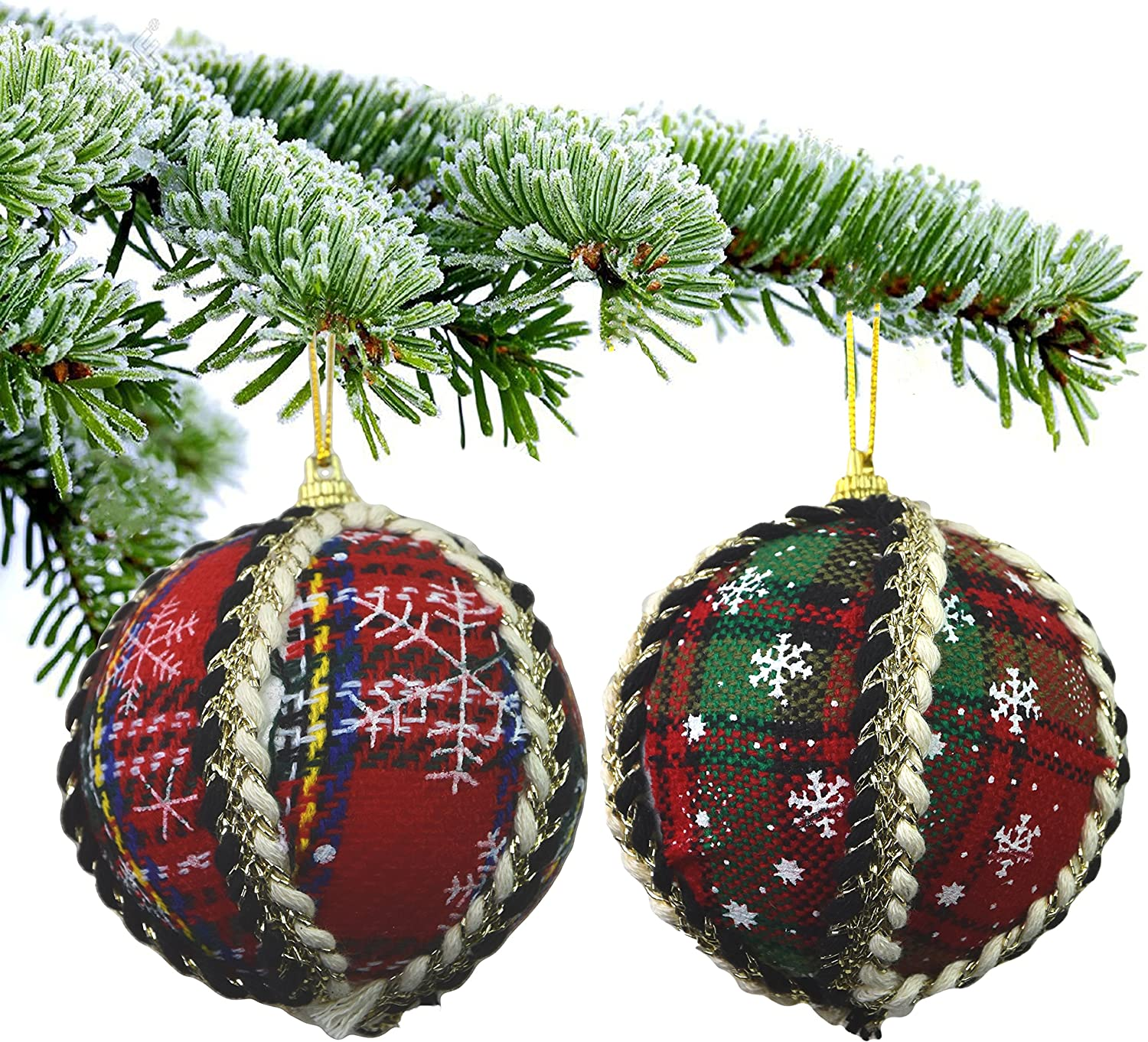 14 Modern Deluxe Shatterproof Christmas Baubles Decorations Xmas Tree Decor 7cm