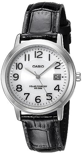 Casio Unisex mtp-s100l-7b1vcf Solar analógico Pantalla Cuarzo Negro Reloj: Amazon.es: Relojes