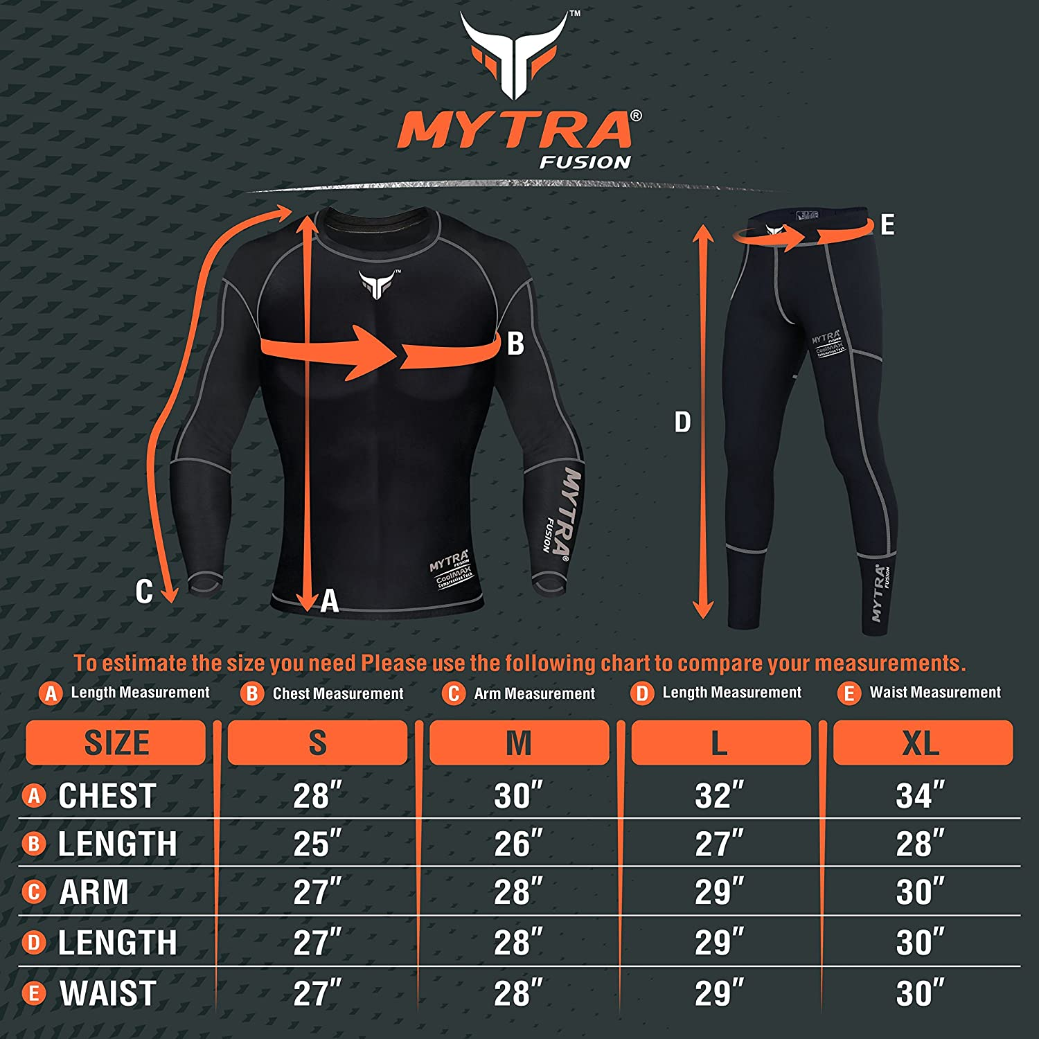 Mytra Fusion Power Layer Compression Base Layer Base Layer Top and Trouser Set
