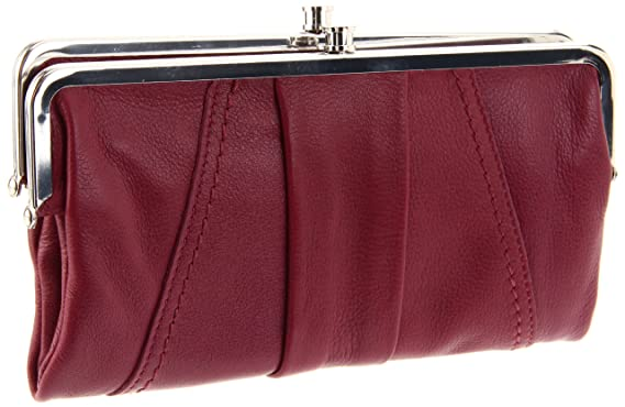 25a36ef31 Amazon.com: HOBO INTERNATIONAL Lauren Double Frame Clutch Wallet,Berry,one  size: Clothing