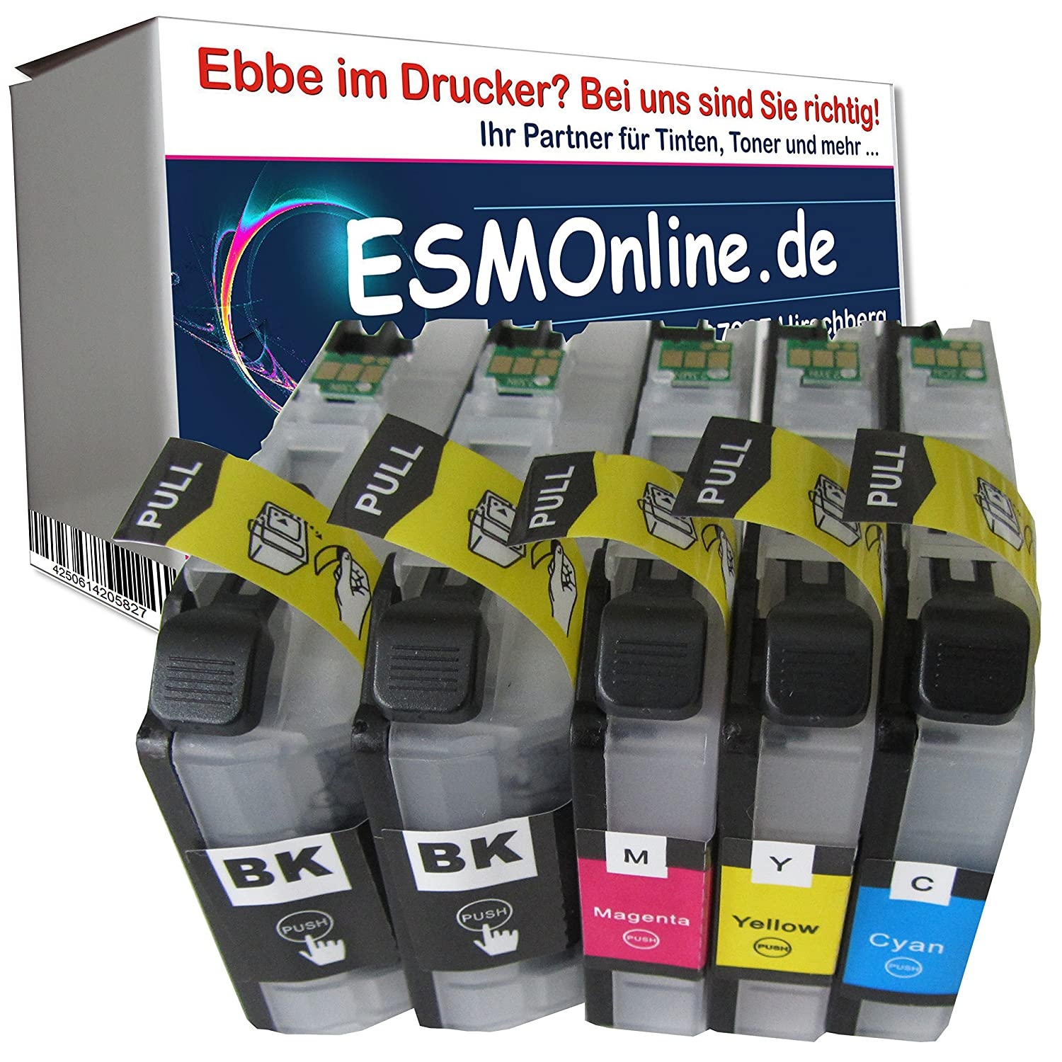 5 MultiPack ESMOnline comp. XL Cartuchos de V2 Chip Brother MFC ...